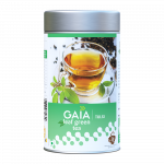 Gaia Leaf Green Tea Caddy Tulsi Front